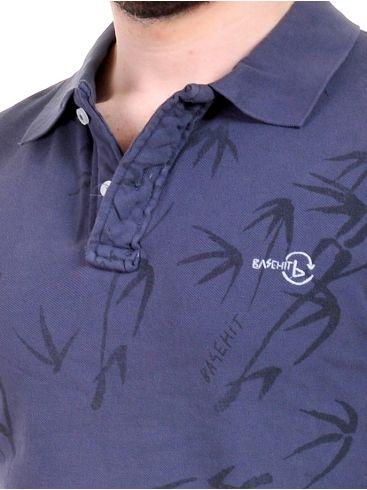 BASEHIT Ανδρική πικέ πόλο μπλούζα, μπλέ. PSB1770GT-PR15Blue