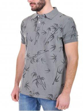 BASEHIT Ανδρική πικέ πόλο μπλούζα , PSB1770-GD-PR15 Grey