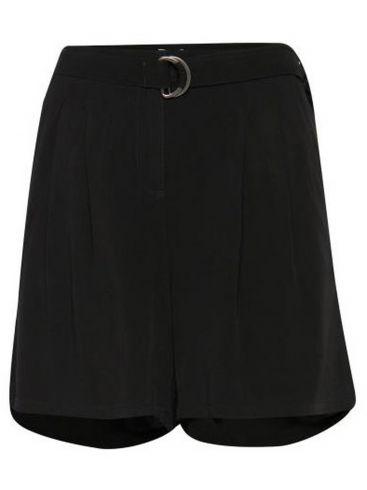 FRANSA Γυναικεία μαύρη βερμούδα-σόρτς