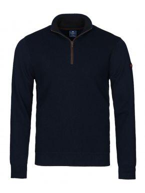 REDMOND Ανδρική μπλέ navy μακρυμάνικη πλεκτή μπλούζα