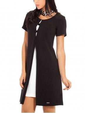 More about BRAVO Μακρυμάνικο μαύρο φόρεμα, άνετη γραμμή