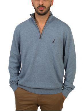 NAUTICA Ανδρική γαλάζια πλεκτή μπλούζα