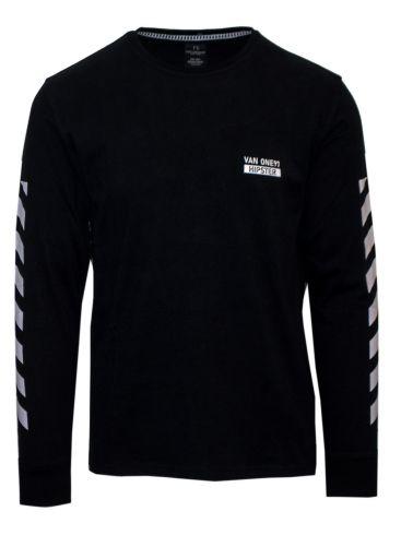 VAN HIPSTER Ανδρική ΧΡΩΜΑ μακρυμάνικη πλεκτή μπλούζα