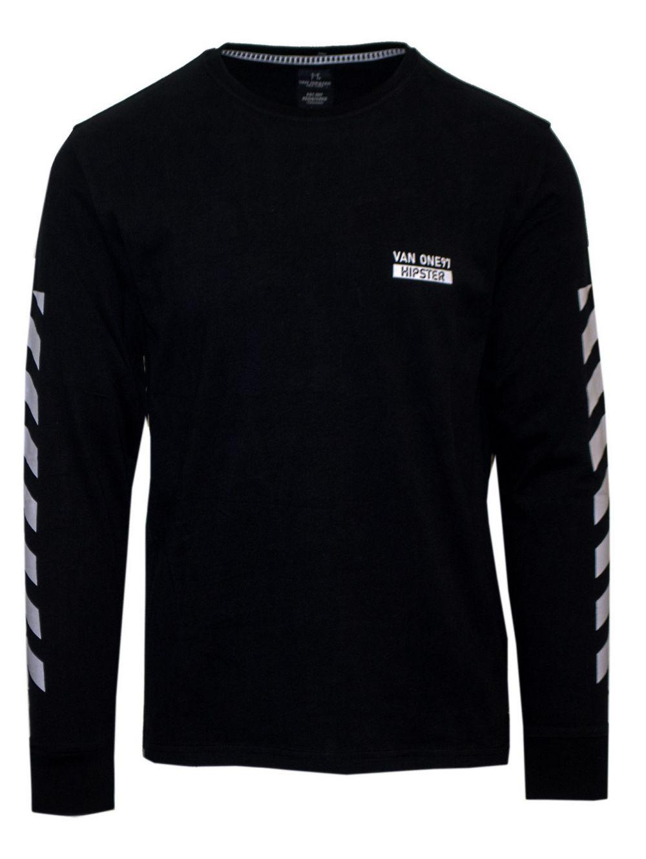 VAN HIPSTER Ανδρική μαύρη μακρυμάνικη μπλούζα - TOPTENFASHION.gr 03453371d55