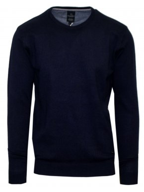 VAN HIPSTER Ανδρική μπλέ navy μακρυμάνικη πλεκτή μπλούζα