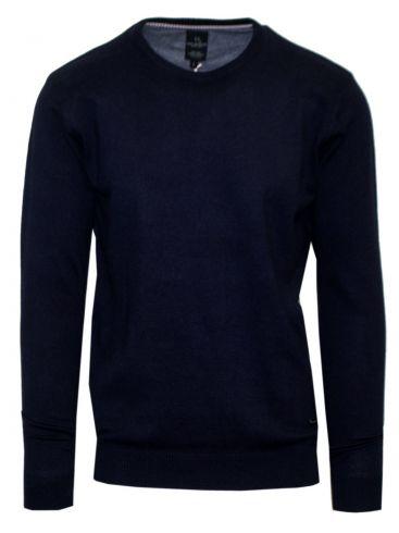 VAN HIPSTER Ανδρική μπορντό μακρυμάνικη πλεκτή μπλούζα. 90% Cotton-10% Viscose