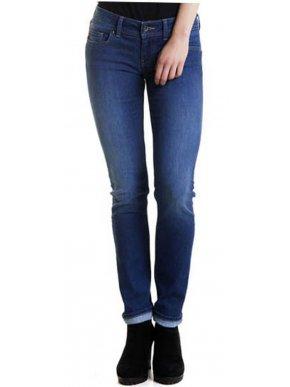 BIG STAR Ελαστικό μπλέ ψιλοκάβαλο slim fit τζιν, ίσιο πόδι 7/8,. φερμουάρ,