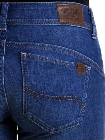 BIG STAR Γυναικείο ελαστικό regular waist skinny παντελόνι τζιν, κλείσιμο με φερμουάρ