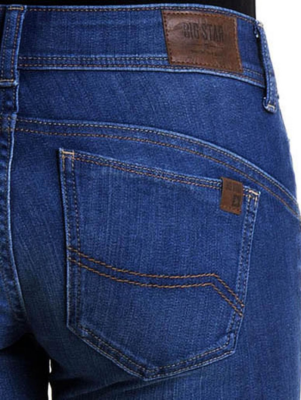 6f75110df19e BIG STAR Γυναικείο ελαστικό regular waist skinny παντελόνι τζιν