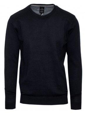 VAN HIPSTER Ανδρική μαύρη μακρυμάνικη πλεκτή μπλούζα