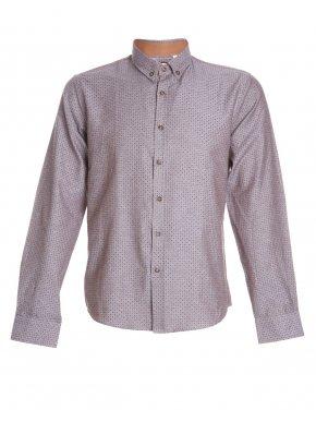 More about TRM Ανδρικό μπέζ πουκάμισο, Ιταλικός σχεδιασμός, κουμπιά γιακά