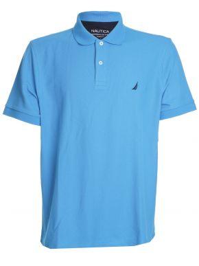 NAUTICA Ανδρική γαλάζια κοντομάνικη πικέ πόλο μπλούζα