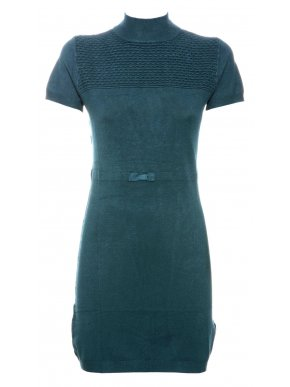 NEW COLLECTION Ιταλικό κυπαρίσσι κοντομάνικο πλεκτό ελαστικό φόρεμα