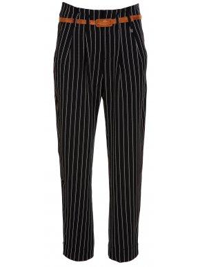 ATTRATTIVO Γυναικείο ελαστικό μαύρο ψιλοκάβαλο ψιλόριγο τσίνος παντελόνι κουστουμιού
