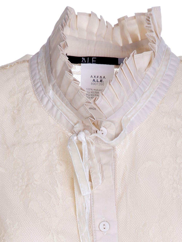 b5a0ada4d140 ALE Γυναικεία αμάνικη εκρού δαντελωτή μπλούζα πουκάμισο