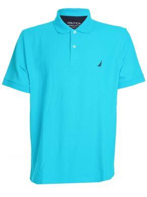 NAUTICA Ανδρική aqua πικέ πόλο μπλούζα K91050 4XN PoolsDagua