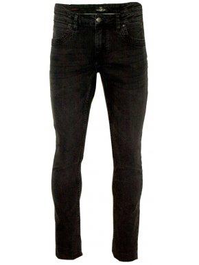 VAN HIPSTER Ανδρικό μαύρο πετροπλυμμένο ελαστικό παντελόνι τζιν