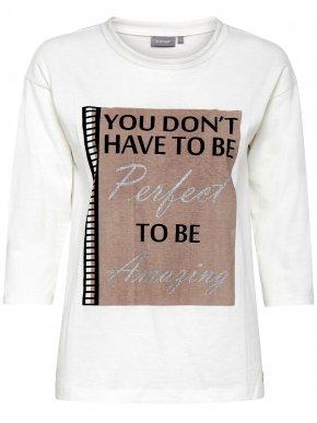 FRANSA Γυναικεία λευκή μακρυμάνικη μπλούζα