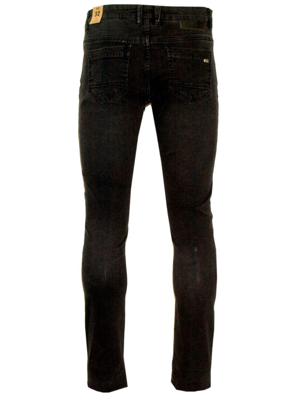 VAN HIPSTER Ανδρικό μαύρο πετροπλυμμένο ελαστικό παντελόνι