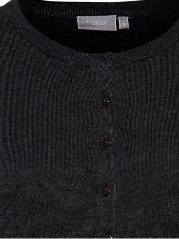 FRANSA Γυναικεία μαύρη ζακέτα, κλείσιμο με κουμπιά