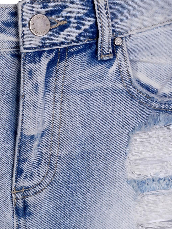 8e596007ebb7 ZUIKI Ιταλική πετροβολημένη τζιν φούστα με σκισίματα και φθορές ...