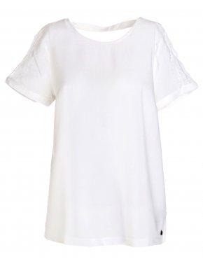 FRANSA Γυναικεία εκρού κοντομάνικη μπλούζα