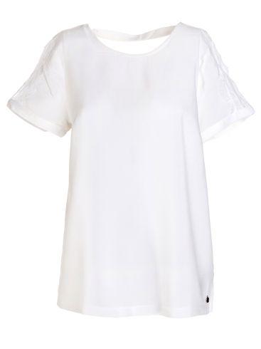 FRANSA Γυναικεία φλοράλ κοντομάνικη μπλούζα