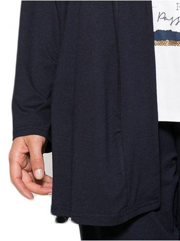 RAXSTA Γυναικεία λεοπάρ μπουφανοζακέτα με κουκούλα