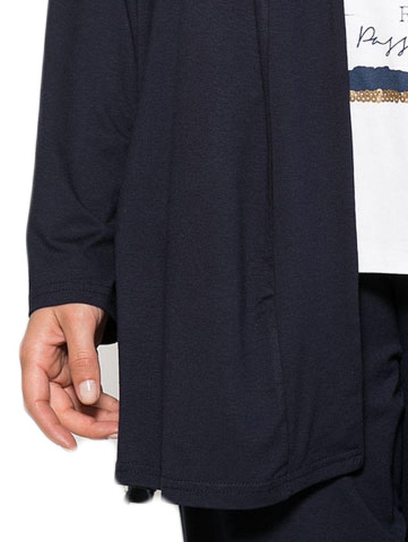 da84984f3ccf RAXSTA Γυναικεία μπλέ navy μακριά ελαφριά ζακέτα. - TOPTENFASHION.gr