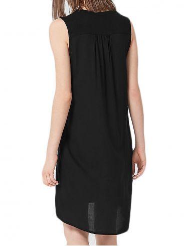 S.OLIVER Τζιν φόρεμα, μανίκι που γυρίζει και δένει