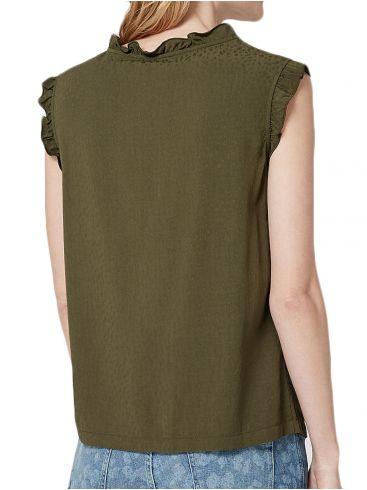 S.OLIVER Φλάμα μπλουζάκι, διακοσμητική δαντέλα