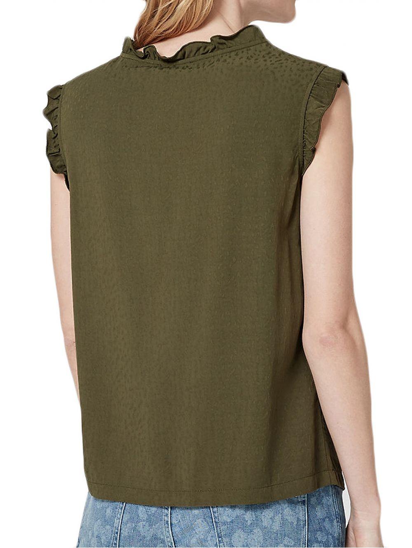 21785ad61aea S.OLIVER Γυναικείο αμάνικο έθνικ χακί πουκάμισο