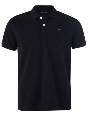 FUNKY BUDDHA Ανδρικό μαύρο πικέ πόλο μπλουζάκι FBM001-11119 Black