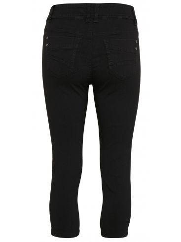 FRANSA Γυναικείο μαύρο ελαστικό μεσαίο καβάλο παντελόνι