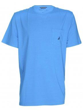 NAUTICA Ανδρική κοντομάνικη μπλέ ρουά μπλούζα