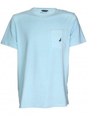 NAUTICA Ανδρική κοντομάνικη γαλάζια μπλούζα