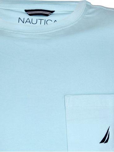 NAUTICA Ανδρική κοντομάνικη πορτοκαλί μπλούζα T-Shirt