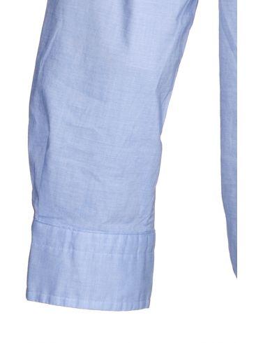 NAUTICA Ανδρικό μπλέ-λευκό ελαστικό καρό μακρυμάνικο πουκάμισο