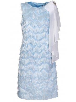 VETO Αμάνικο σιέλ αμπιγιέ φόρεμα
