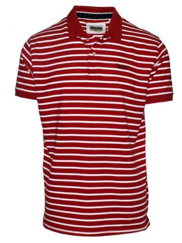 VAN HIPSTER Ανδρική μπλέ ρουά κοντομάνικη πικέ πόλο μπλούζα