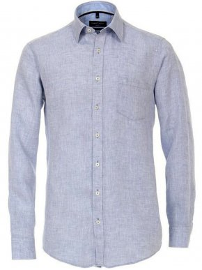 CASA MODA Ανδρικό γκρί μακρυμάνικο λινό πουκάμισο