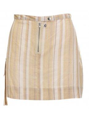 NAF NAF Ιταλική πετροβολημένη τζιν φούστα με σκισίματα και φθορές