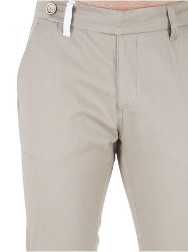 STEFAN Ανδρικό μπλέ σκούρο τσίνος παντελόνι, πουά