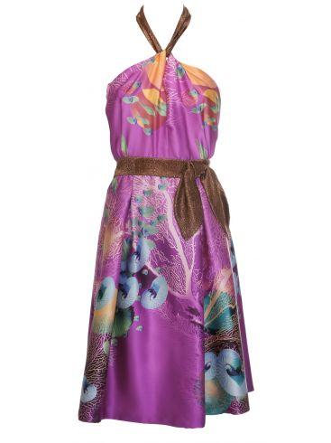 Μεταξωτό Μακρύ Βραδινό Cocktail Φόρεμα