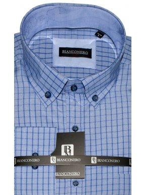 BIANCONERO Μμπλέ πουκάμισο με κουμπιά γιακά