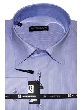 BIANCONERO Ανδρικό λιλά πουκάμισο