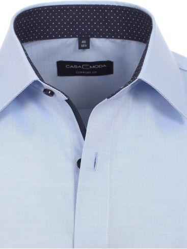 CASA MODA Ανδρικό λευκό μάο λινό πουκάμισο