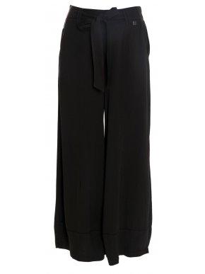 ALE Γυναικεία άνετη μπλέ βισκόζη παντελόνα