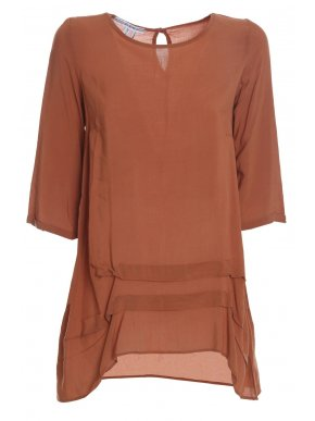 ATTRATTIVO Γυναικεία ελαφριά ασύμμετρη ταμπά μπλούζα 91361345