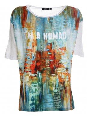 ZUIKI Ιταλικό πολύχρωμο μπλουζάκι, διάτρητη πλάτη